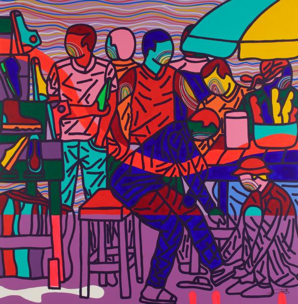 <span class=&#34;artist&#34;><strong>Ajarb Bernard Ategwa</strong></span>, <span class=&#34;title&#34;><em>Isn't my size</em>, 2018</span>