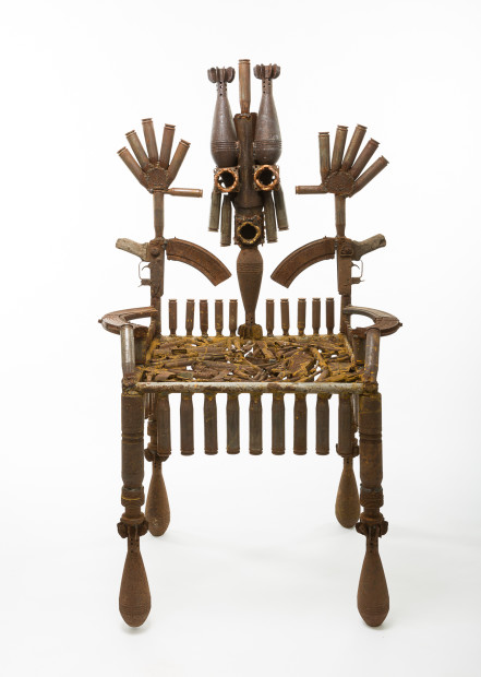 <span class=&#34;artist&#34;><strong>Gon&#231;alo Mabunda</strong></span>, <span class=&#34;title&#34;><em>The Throne of the Mandated</em>, 2016</span>