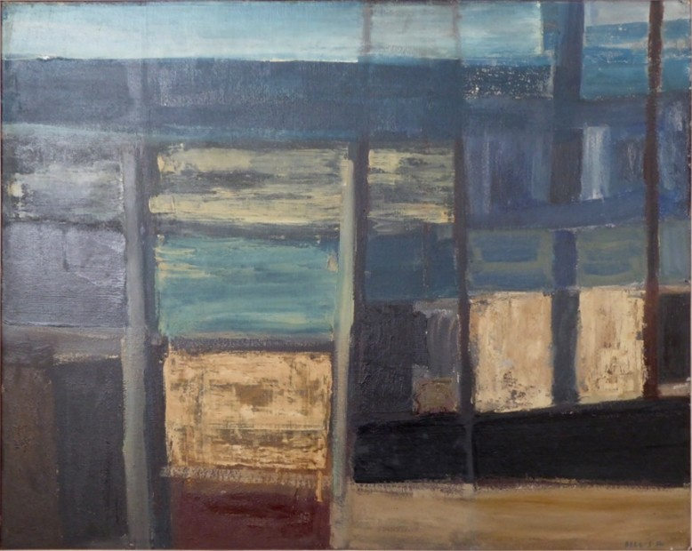 Cliff and Sea Painting, 1956