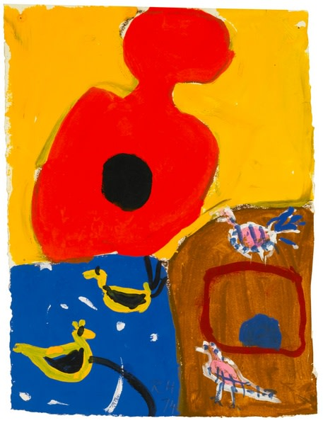 Untitled gouache, 1974