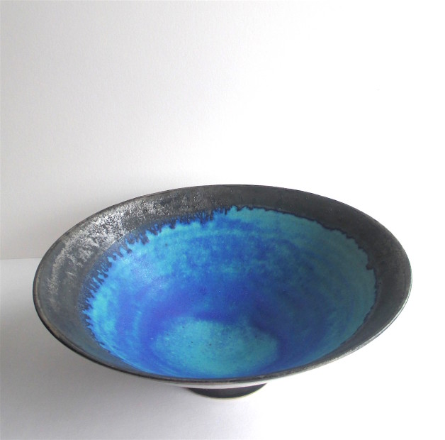 Silver lustred Blue Pool Bowl, 2020