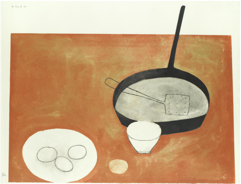 Still Life with Frying Pan and Eggs, 1973