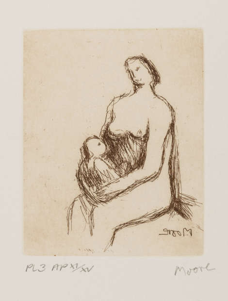 Mother and Child (Cramer 703), 1983