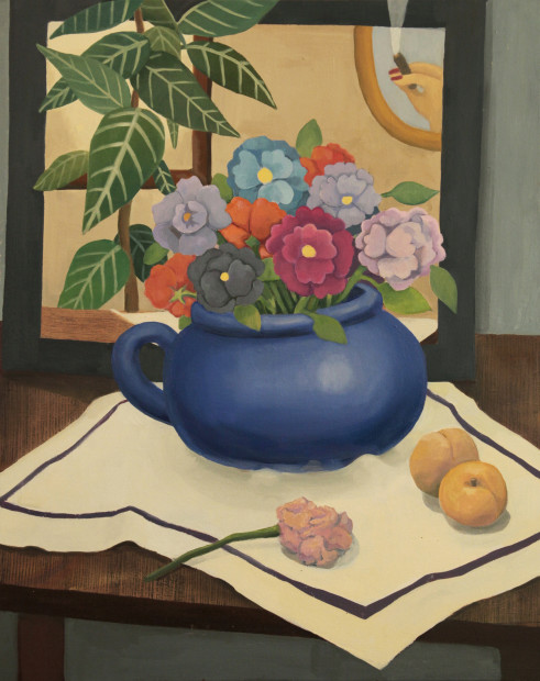 GaHee Park, Still Life with Flowers and Apricots, 2017-2018