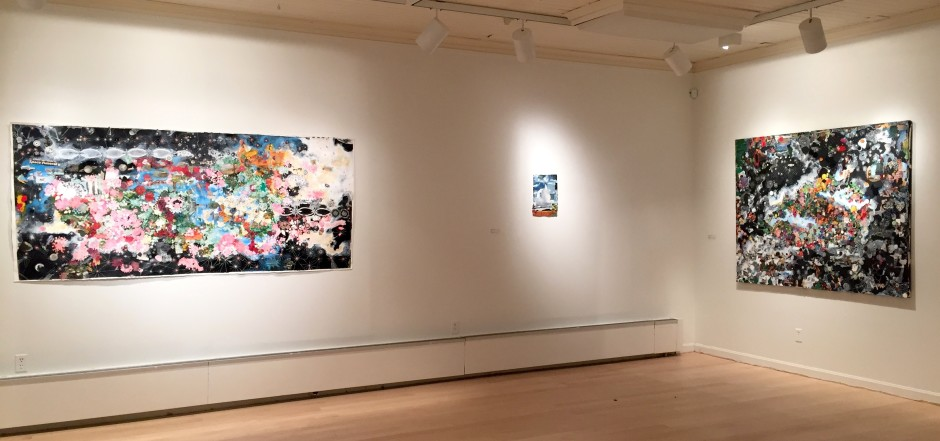 Installation view, Sally Gil: Intergalactic Current at Helen Day Art Center, Stowe, Vermont