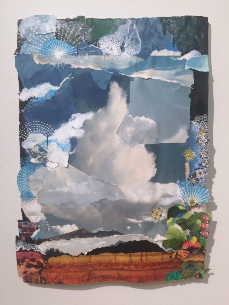 Sally Gil, Large Pointed Cloud, 2015, collage and paint on paper, 16 x 11 in.