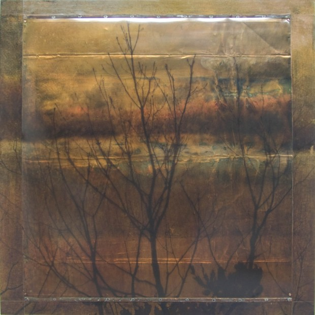 Dorothy Simpson Krause, Bare Branches, 2008, pigment print on film nailed to copper, on board, 36 x 36 in.