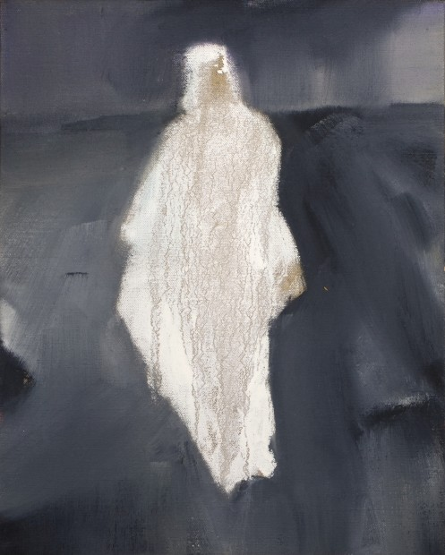 Melora Griffis, loose garment, 2015, oil on linen, 14 x 11 in.