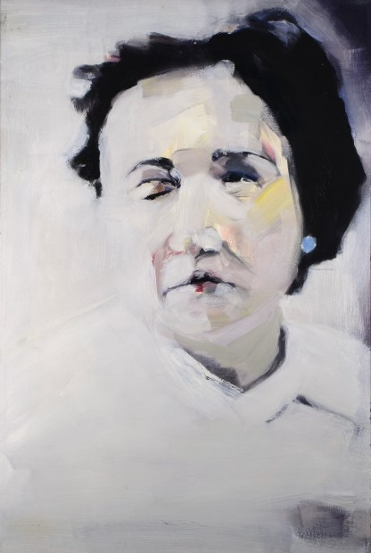 Melora Griffis, sister, 2008, oil on canvas, 32.5 x 21.5 in.