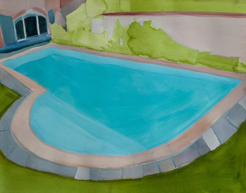 Melora Griffis, piscine de la famille anglaise, 2017