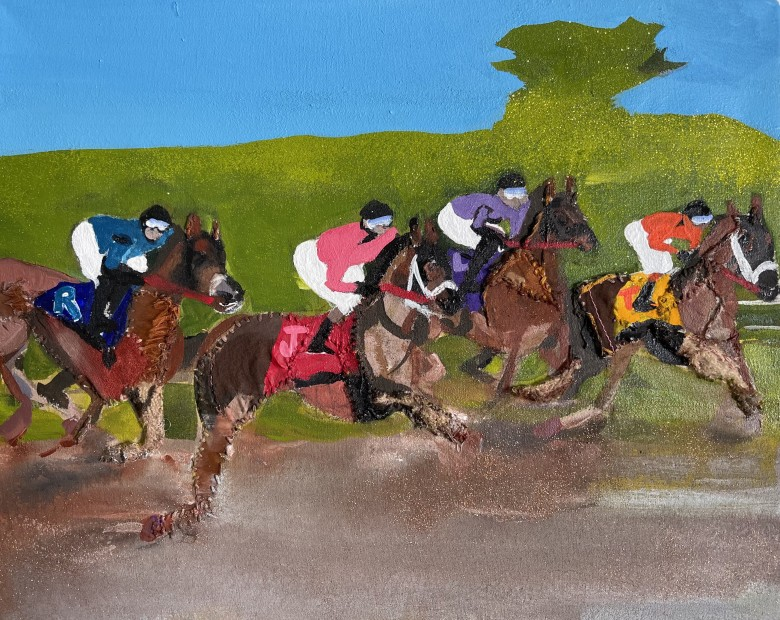 Melora Griffis, race track, 2021