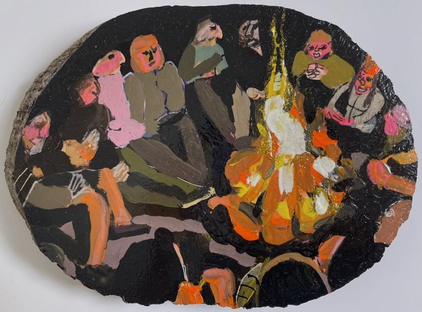 Melora Griffis, bonfire, 2021