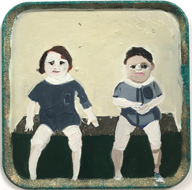 Melora Griffis, bench twins, 2018