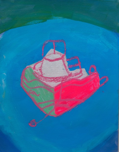 Melora Griffis, toy boat, 2017