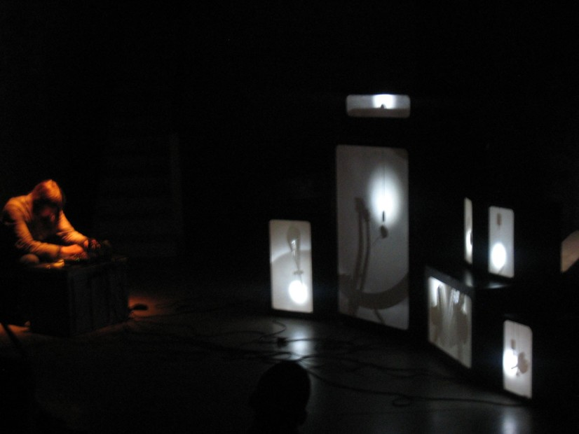 Karen Geyer performance, part of Echoic Objects exhibition, 2010