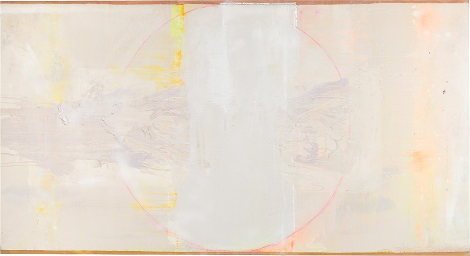 FRANK BOWLING, Stuart's Prediction, 2016, acrylic on collaged canvas, 147.5 x 271.5 cm, 58 1/8 x 106 7/8 in