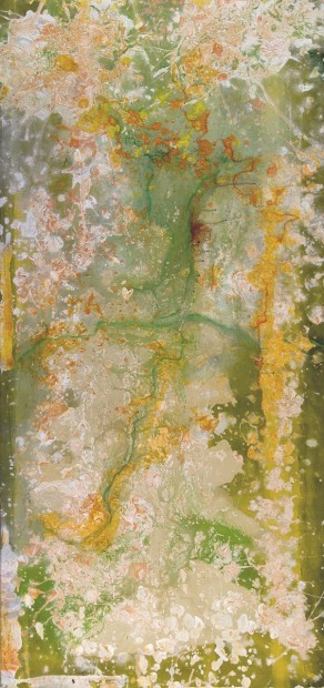 FRANK BOWLING, Potarovines, 1978, acrylic on canvas, 172 x 81 cm