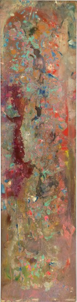 FRANK BOWLING, Rupununired, 1980, acrylic on canvas, 44.6 x 180 cm