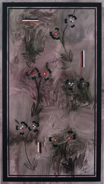 <div class=&#34;artist&#34;><strong>KAMROOZ ARAM</strong></div><div class=&#34;title&#34;><em>Ornamental Composition for Social Spaces #15</em>, 2017</div><div class=&#34;medium&#34;>oil, wax, oil crayon, and color pencil on canvas</div><div class=&#34;dimensions&#34;>198.1 x 111.8 cm<br />78 x 44 in</div>