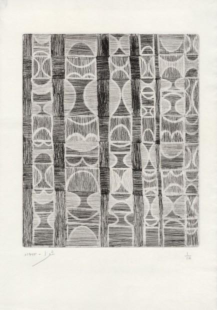 <div class=&#34;artist&#34;><strong>Anwar Jalal Shemza</strong></div><div class=&#34;artist&#34;><em>Interior</em>, 1960</div><div class=&#34;artist&#34;>aquatint and intaglio</div><div class=&#34;artist&#34;>44.1 x 30.6 cm</div><div class=&#34;artist&#34;>17 3/8 x 12 1/8 in</div>