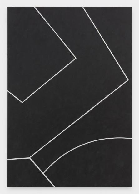 Virginia Jaramillo, Site: No. 5  19.6923˚ N, 98.8435˚ W, 2018  Acrylic on canvas, 198.1 x 137.2 cm, 78 x 54 in
