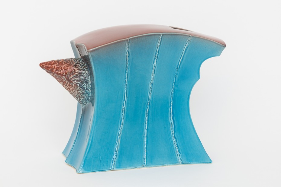 Richard Slee, Anvil, 1986/2003/2018, Glazed ceramic, 36 x 52 x 21 cm, 14 1/8 x 20 1/2 x 8 1/4 in
