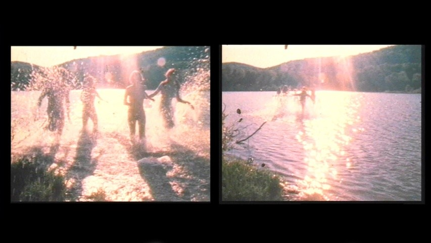 <p>Water Light/Water Needle (Lake Mah Wah, NJ), 1966, 11:13 min, color, sound, 16 mm film on video, (film still)</p>