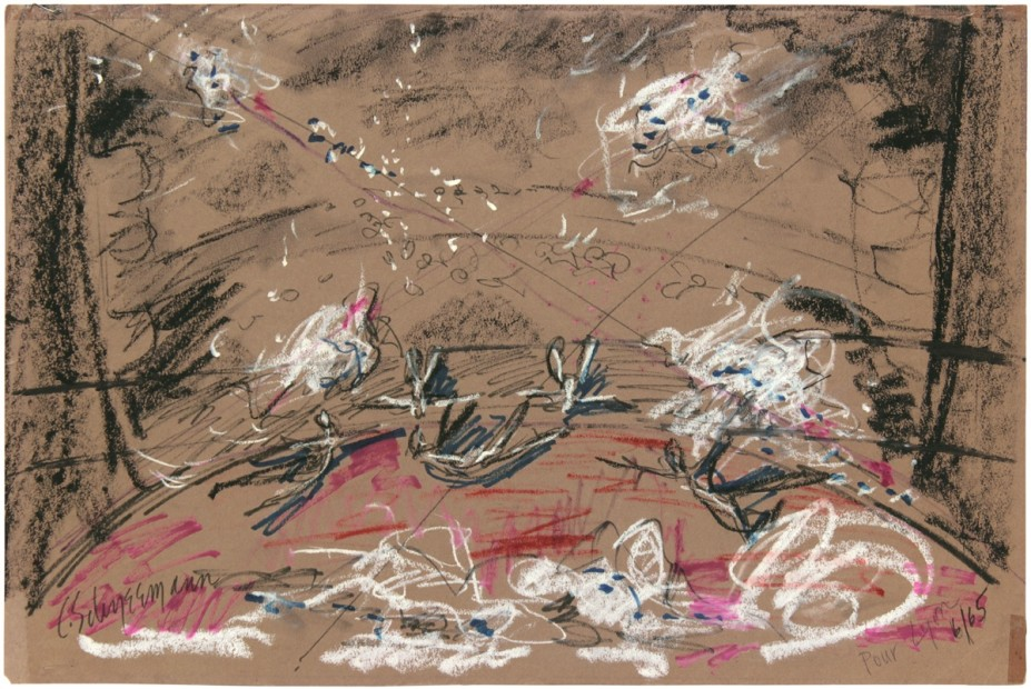 Pour LIon, 1965, watercolor on paper, 30.48 x 45.72 cm