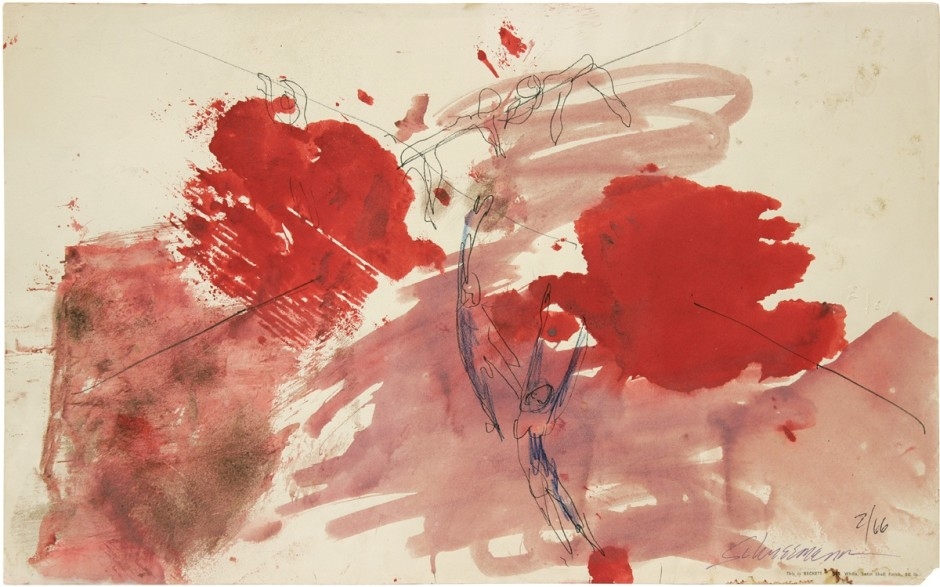 Water Light/Water Needle, 1966, watercolor on paper, 31.75 x 50.80 cm