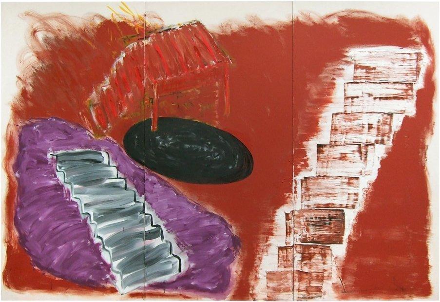 <p>Basil Beattie<em>, Ascent</em>, 2012, oil and wax on canvas, 244 x 366 cm</p>