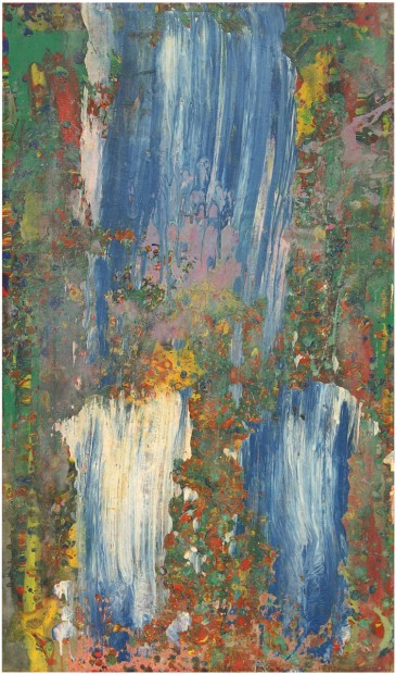 Frank Bowling, At Swim Two Manatee, 1977/8, Acrylic on Canvas, 116.84 x 68.58 cm, 46 x 27 in