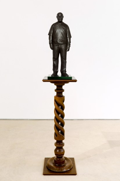 Tom Price, Sportswear (Achilles Street), 2011, Bronze, Perspex and wooden base, 175 x 36 cm, 68.95 x 14.18 in, edition of 3 plus 1 artist's proofs