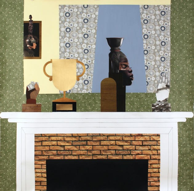 <p>Derrick Adams,&#160;<em>Three Generations</em>, 2013, &#160;mixed media collage on paper, 127 x 127 cm&#160;</p>