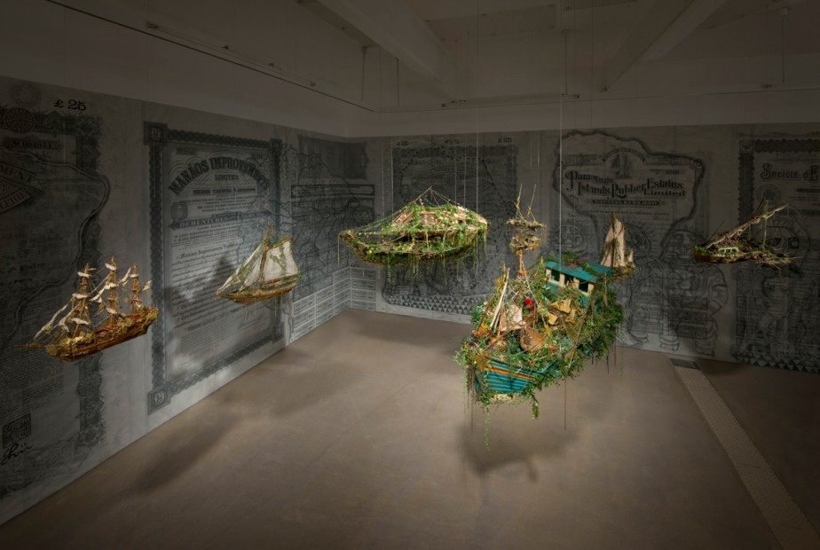 <p>Hew Locke, <em>Off Shore Drift</em>, 2014, Mixed media installation, dimensions variable</p>