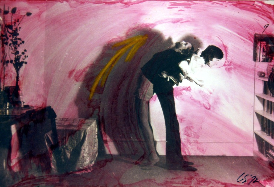 Carolee Schneemann, Exercise for Couples (Detail), 1972, 10 silver prints with paint wash, Image courtesy of the artist