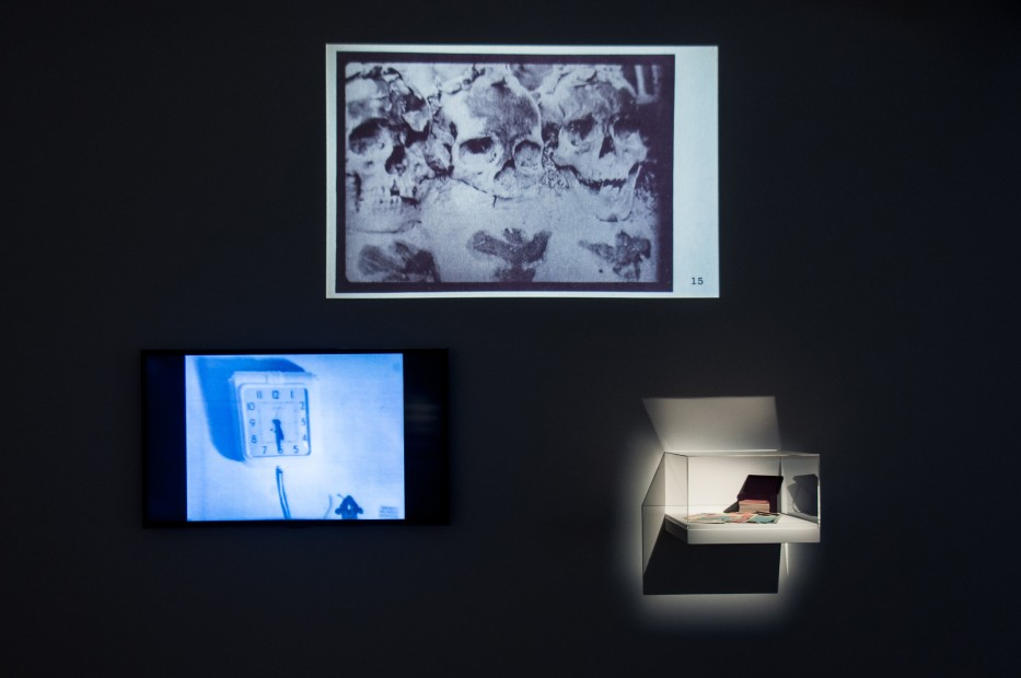 <p>Carolee Schneemann, <em>ABC- We Print Anything - In the Cards</em>, 1977/1992, photograph, printed card stock, archival box, signed, filmed performance, projection of cards, 3 x 5 in each card, 3 3/4 x 5 1/4 x 3 3/4 in archival box, Image courtesy of the artist</p>