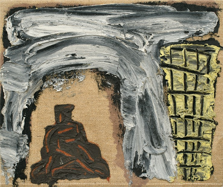 <p><b>Basil Beattie</b><br /><i>Ziggurat and Tower</i><span>, 1991</span><br /><span>oil on linen</span><br /><span>26.5 x 31.1 cm</span><br /><span>10 3/8 x 12 1/4 in</span></p>