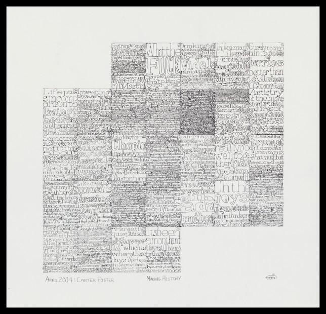 <p><i><i>Making History: Case Histories</i></i></p><p><i>April 2014: Carter Foster (verso)</i><span>, 2014</span><br /><span>graphite on Bristol board</span><br /><span>41.9 x 43.5 cm</span><br /><span>16 1/2 x 17 1/8 in</span></p>