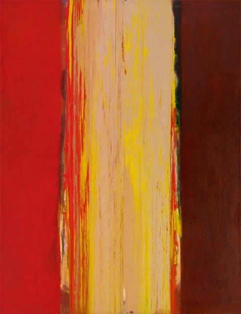 Frank Bowling, Kathleen, 1976, acrylic on canvas, 189 x 145 cm, 74 3/8 x 57 1/8 in
