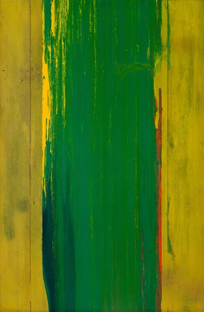 <p>Frank Bowling,&#160;<em>Mordrec's Hole</em>, 1976,&#160;acrylic on canvas,&#160;132.5 x 86.5 cm,&#160;52 1/8 x 34 1/8 in</p>