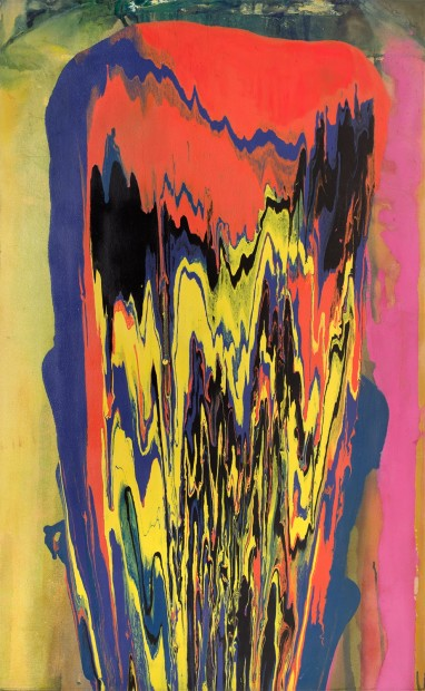 Frank Bowling, Tony's Anvil, 1975, acrylic on canvas, 173 x 107 cm, 68 1/8 x 42 1/8 in