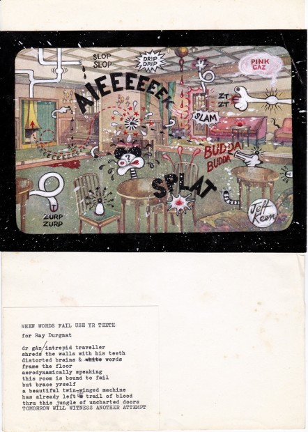 <p>Jeff Keen,&#160;<em>AIEEEEEEK!</em>, 1968-70, collage, 39.5 x 32.8 cm, 15 1/2 x 12 7/8 in</p>