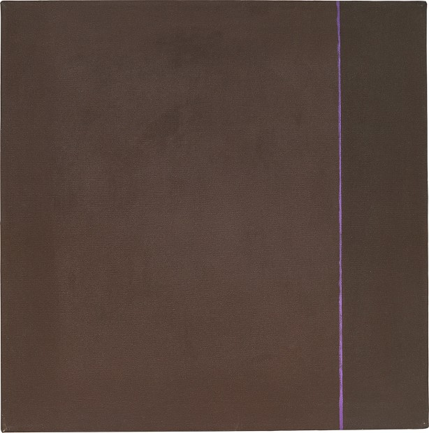 Virginia Jaramillo, Pink Line, 1973, oil paint on canvas, 87 x 86.4 cm, 34 1/4 x 34 in