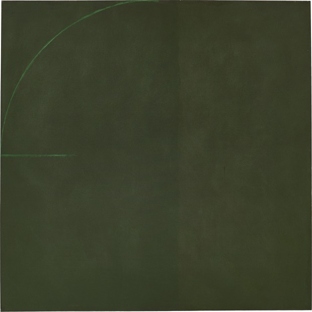 Virginia Jaramillo, Untitled, 1973, oil paint on canvas, 182.9 x 182.9 cm, 72 x 72 in