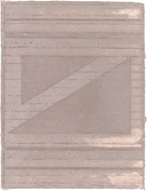 Virginia Jaramillo, Visual Theorems 10, 1980, Linen Fibre and Earth Pigments, 61 x 47 cm, 24 x 18 1/2 in