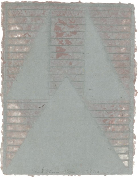 Virginia Jaramillo, Visual Theroems 11, 1980, Linen Fibre and Earth Pigments, 62.9 x 48.3 cm, 24 3/4 x 19 in