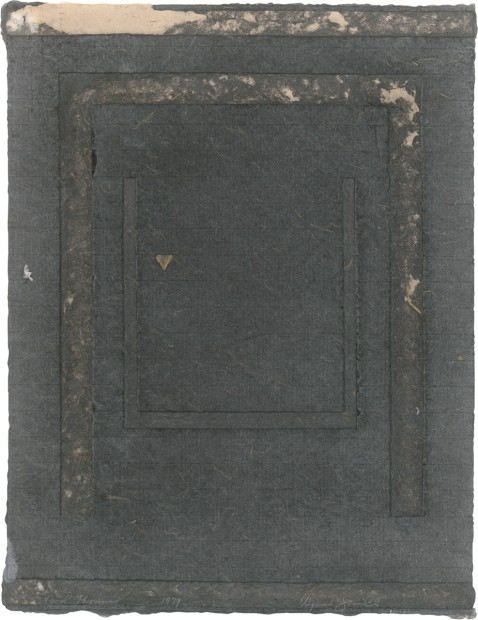 Virginia Jaramillo, Visual Theorems 7, 1979, Linen Fibre and Earth Pigments, 60.3 x 45.7 cm, 23 3/4 x 18 in