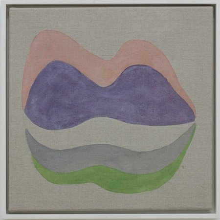 Untitled, 2006, watercolour on linen, 38 x 38 cms