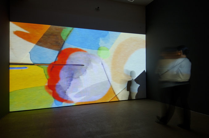 Installation view at Hales Gallery, London, 2006