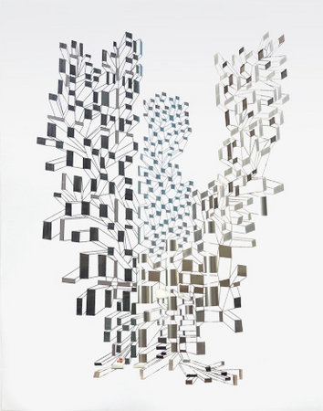 Cluster V (Pteropolis), 2006, peeled photograph, 76 x 95 cm